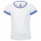 Fila Girl's Core Performance Short Sleeve Tennis Top (White/Amparo Blue) - Girl's Tennis Apparel