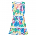 Fila Girl's Core Performance Tennis Dress (Tye Dye/White) - Girl's Tennis Apparel