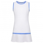 Fila Girl's Core Performance Tennis Dress (White/Amparo Blue) - Girl's Tennis Apparel