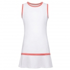 Fila Girl's Core Performance Tennis Dress (White/Calypso Coral) - Girl's Tennis Apparel