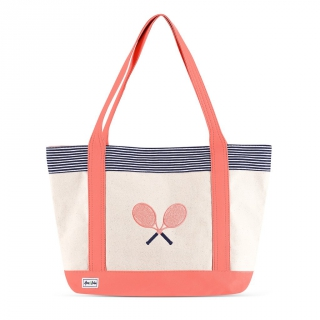 Ame & Lulu Bitsy Tennis Lovers Tote Bag