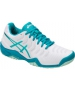 Asics Women's Gel Resolution 7 Tennis Shoes (White/Arctic Aqua/Glacier Sea) - Lightweight Tennis Shoes