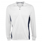 Fila Men's Core Performance Half Zip Tennis Jacket (White/Navy) -