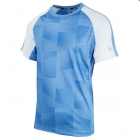 Fila Men's Core Performance Printed Tennis Crew (Sky Blue/White) -