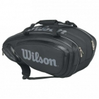 Wilson Tour V 9 Pack Tennis Bag (Black/Silver) - 7 Racquet Tennis Bags