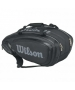 Wilson Tour V 9 Pack Tennis Bag (Black/Silver) - Wilson Tour Series Tennis Bags