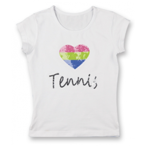 Little Miss Tennis Heart Tennis Classic Tee