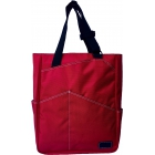 Maggie Mather Tennis Tote with Zipper Closure (Red) - Maggie Mather