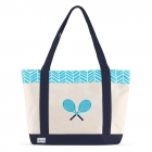 Ame & Lulu Surf Tennis Lovers Tote Bag - Ame & Lulu Tennis Lovers Tote