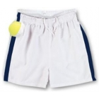 LMT Classic Microfiber Short (White/ Navy) - LMT Tennis Apparel