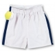 LMT Classic Microfiber Short (White/ Navy) - LMT Boy's Bottoms Tennis Apparel