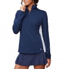 Fila Women's Core Performance Half Zip Tennis Jacket (Navy/White) -
