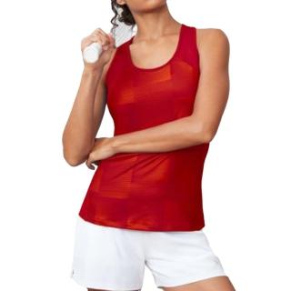 Fila Women's Core Performance Printed Racerback Tennis Tank (Crimson)