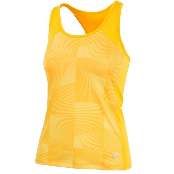 Fila Women's Core Performance Printed Racerback Tennis Tank (Gold)