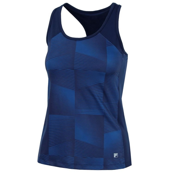 Fila Women's Core Performance Printed Racerback Tennis Tank (Navy)