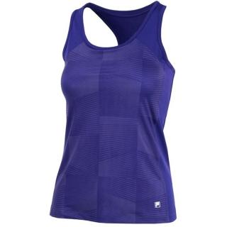 Fila Women's Core Performance Printed Racerback Tennis Tank (Purple)