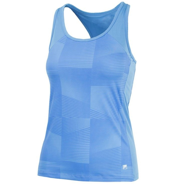Fila Women's Core Performance Printed Racerback Tennis Tank (Sky Blue)
