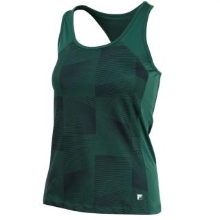 Fila Women's Core Performance Printed Racerback Tennis Tank (Forest Green)