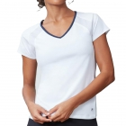 Fila Women's Core Performance Short Sleeve Tennis Top (White/Navy) -