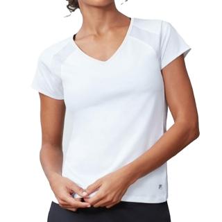 Fila Women's Core Performance Short Sleeve Tennis Top (White)