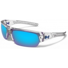 Under Armour Big Shot Multiflection Sunglasses (Shiny Crystal Clear / Frosted Clear) - Tennis Accessory Types