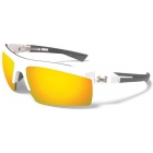 Under Armour Core 2.0 Orange Multiflection Sunglasses (Shiny White/Charcoal) - Tennis Accessory Types