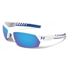 Under Armour Igniter 2.0 Blue Multiflection Sunglasses (Shiny White/Blue) - Tennis Accessories