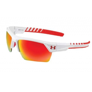 Under Armour Igniter 2.0 Orange Multiflection Sunglasses (Shiny White/Red Rubber)
