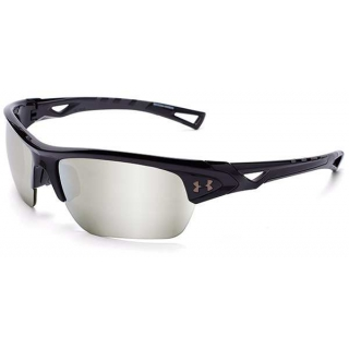 Under Armour Octane Game Day Multiflection Sunglasses (Shiny Black)