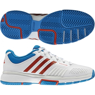 Adidas Barricade 7 Womens Tennis Shoes (Wht/ Red/ Blu)