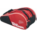 Wilson Federer Court Collection 15 Pack Tennis Bag (Red/ White)