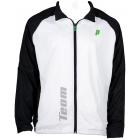 Prince Men's Warm-up Jacket (White/Black) - Men's Outerwear Tennis Apparel