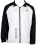 Prince Men's Warm-up Jacket (White/Black) - Men's Outerwear Warm-Ups Tennis Apparel