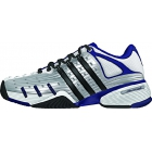 Adidas Men's Barricade V Classic Tennis Shoes (Wht/ Nvy/ Sil/ Blk) - Men's Tennis Shoes