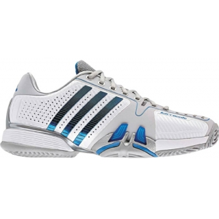 Adidas Barricade 7 Mens Tennis Shoes (Wht/ Blu/ Gry)
