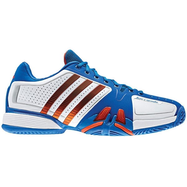 Adidas Barricade 7 Mens Tennis Shoes (Wht/ Blu/ Red)