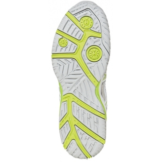 Asics Women's Challenger 9 Tennis Shoes (Silver/ Lime/ White)