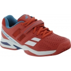 Babolat Propulse BPM All Court Junior Tennis Shoes (Red/ Blue) - Tennis Shoes for Kids