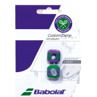 Babolat Wimbledon Custom Dampener (Green/ Purple) - Accessory Showcase