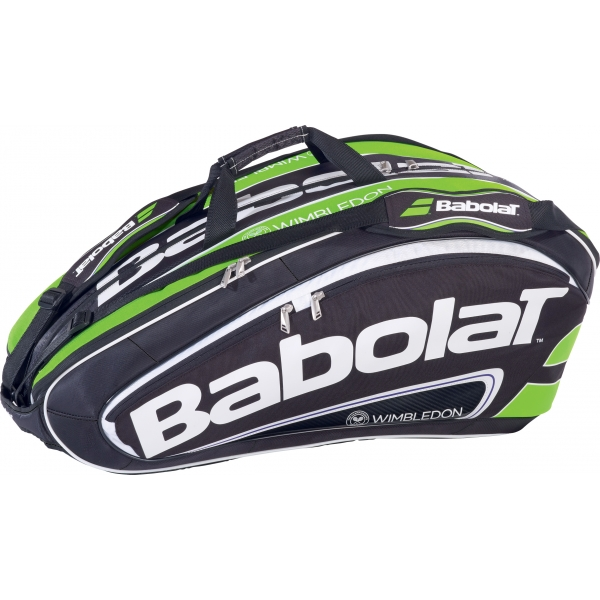 Babolat Wimbledon Team Racquet Holder x12 (Black/ Green)