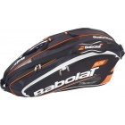 Babolat Play Team Racquet Holder x6 (Black/ Orange) - Babolat Team Tennis Bags
