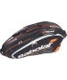 Babolat Play Team Racquet Holder x6 (Black/ Orange) - Babolat Tennis Bags