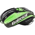 Babolat Pure Wimbledon Racquet Holder x15 (Black/ Green)