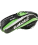 Babolat Pure Strike Wimbledon Racquet Holder x6 (Black/ Green) - New Tennis Bags