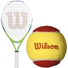 Wilson US Open Junior Tennis Racquet, Red Felt Tennis Balls - Junior Tennis Racquet + Ball Bundles