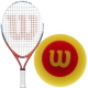 Wilson US Open Junior Tennis Racquet, Red Foam Tennis Balls - Junior Bundle Packs