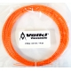 Volkl V-Wrap Orange Spiral 16g (Set - Clear Package) - Synthetic Gut Tennis String