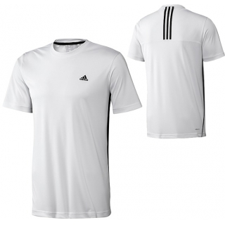 Adidas Mens Galaxy Tee (White/ Black)