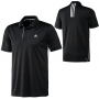Adidas Mens Galaxy Polo (Blk/ Wht)