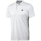 Adidas Mens Galaxy Polo (Wht/ Blk) - Adidas Men's Apparel Tennis Apparel